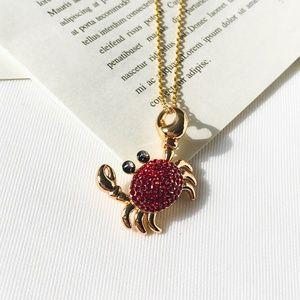 kate spade shore thing mini crab pendant necklace